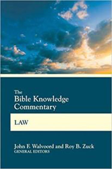 Picture of BIBLE KNOWLEDGE COMMENTARY- LAW PB