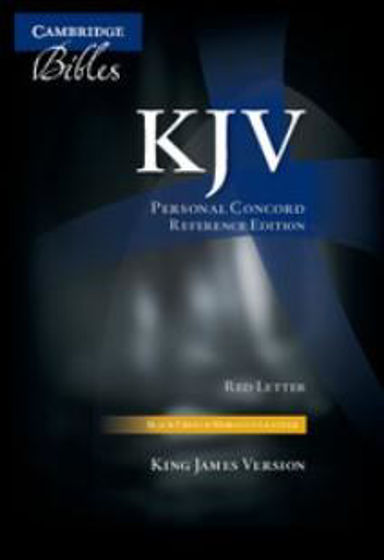Picture of KJV PERSONAL CONCORD REF BLACK MOROCCO LEATHER