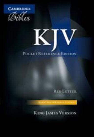 Picture of KJV POCKET REFERENCE BLACK FRENCH MOROCCO ZIP