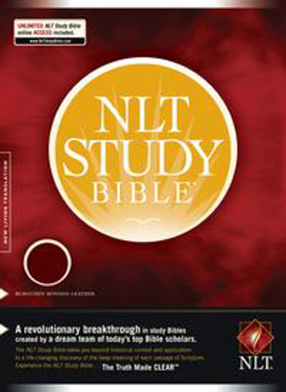 Picture of NLT STUDY BIBLE BURGUNDY BLTH TI