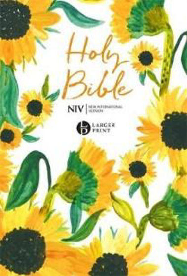 Picture of NIV LARGE PRINT SOFT TONE SUNFLOWER BIBLE