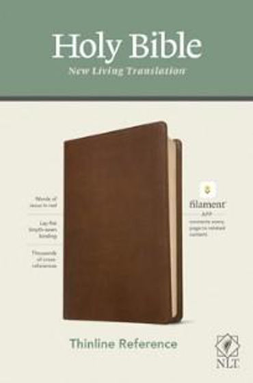 Picture of NLT THINLINE REFERENCE BROWN IMITATION LEATHER