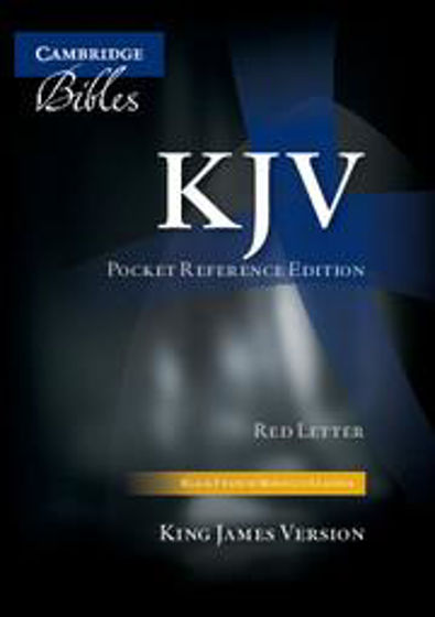 Picture of KJV POCKET REFERENCE FRENCH MOROCCO LEATHER BLACK