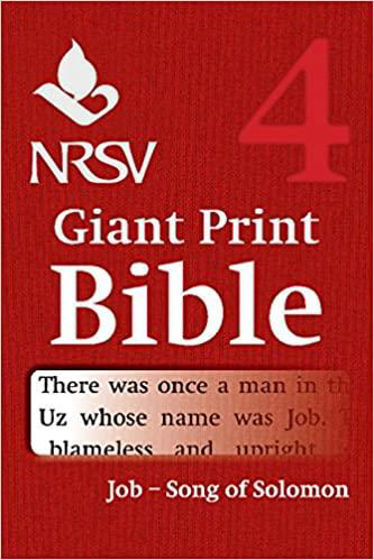 Picture of NRSV VOLUME 4- JOB- SONGS OF SOLOMON GIANT PRINT